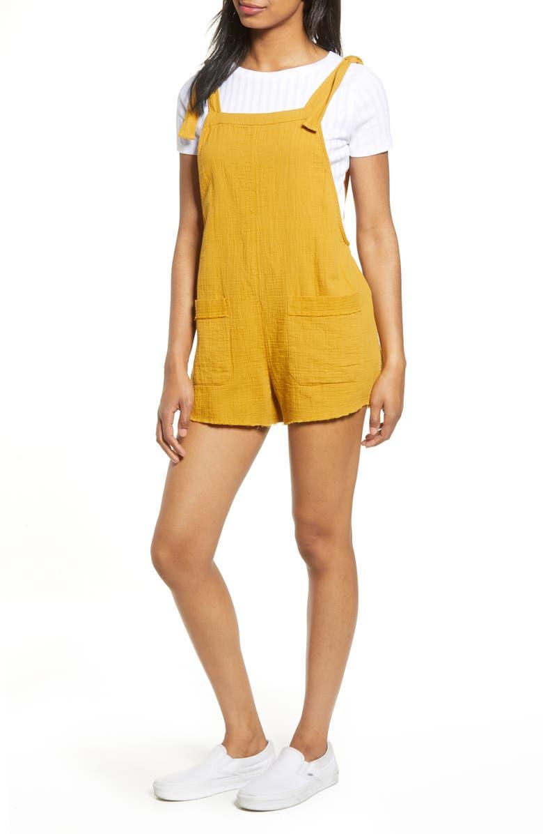 BILLABONG Girl on the Run Short Overalls, Main, color, WILD HONEY