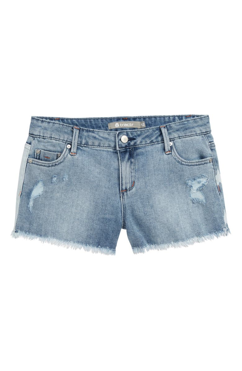 75e241370c Tractr Brittany July 4 Denim Shorts (Big Girls) | Nordstrom