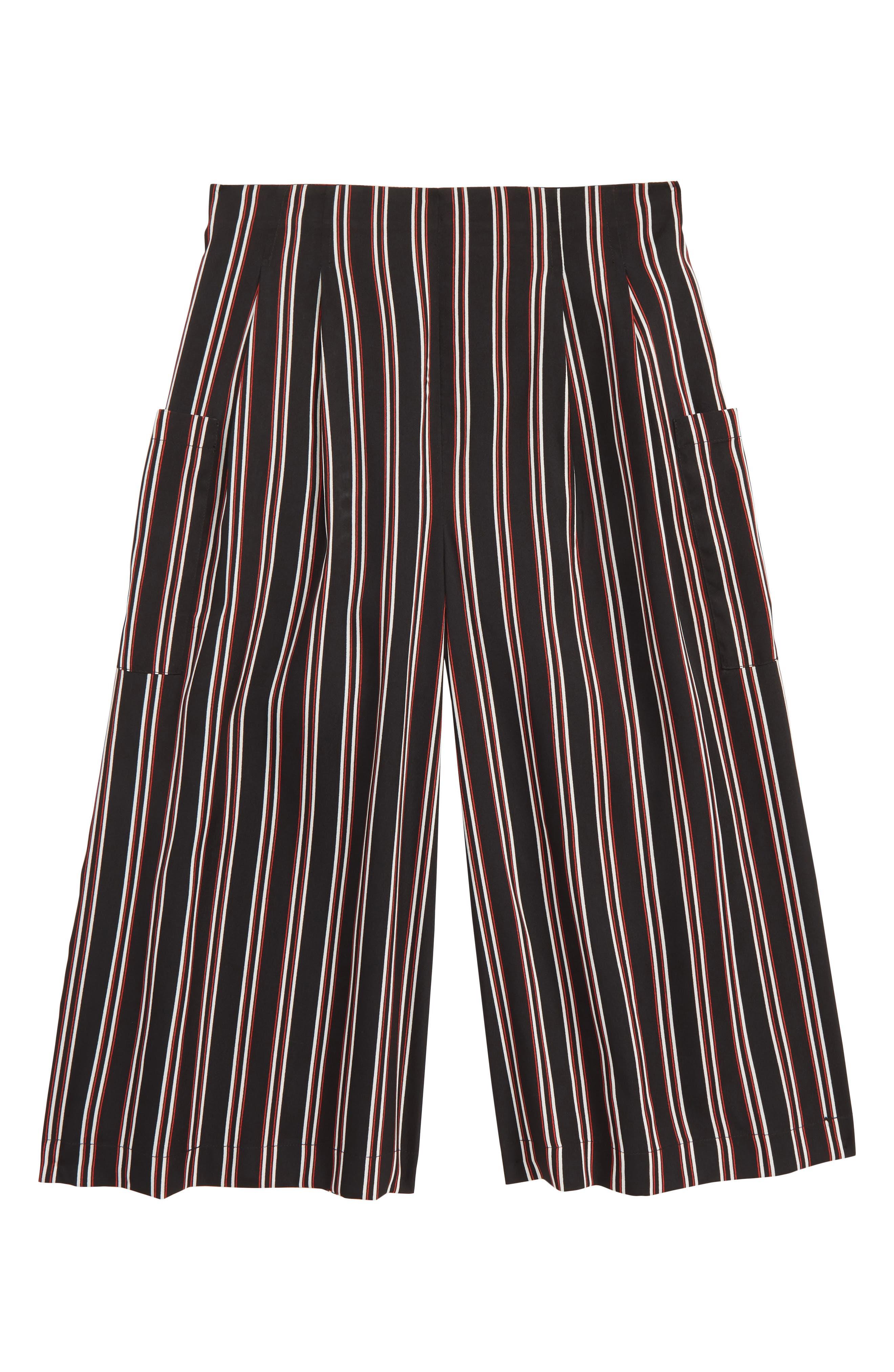 Stripe Wide Leg Pants, Main, color, BLACK MULTI VERTICAL STRIPE
