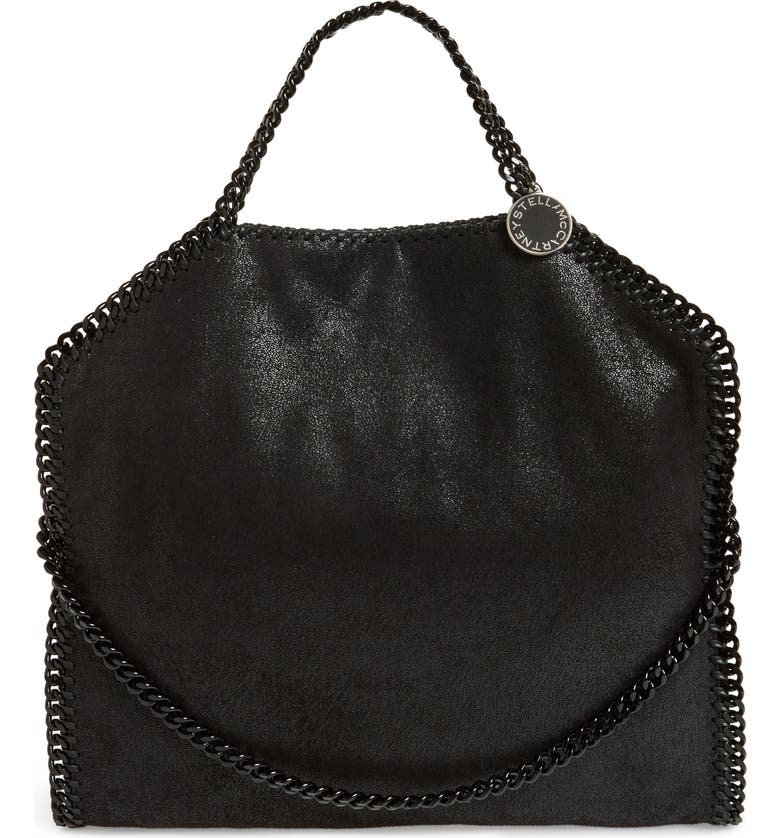 STELLA MCCARTNEY Falabella Shaggy Deer Faux Leather Tote, Main, color, 001