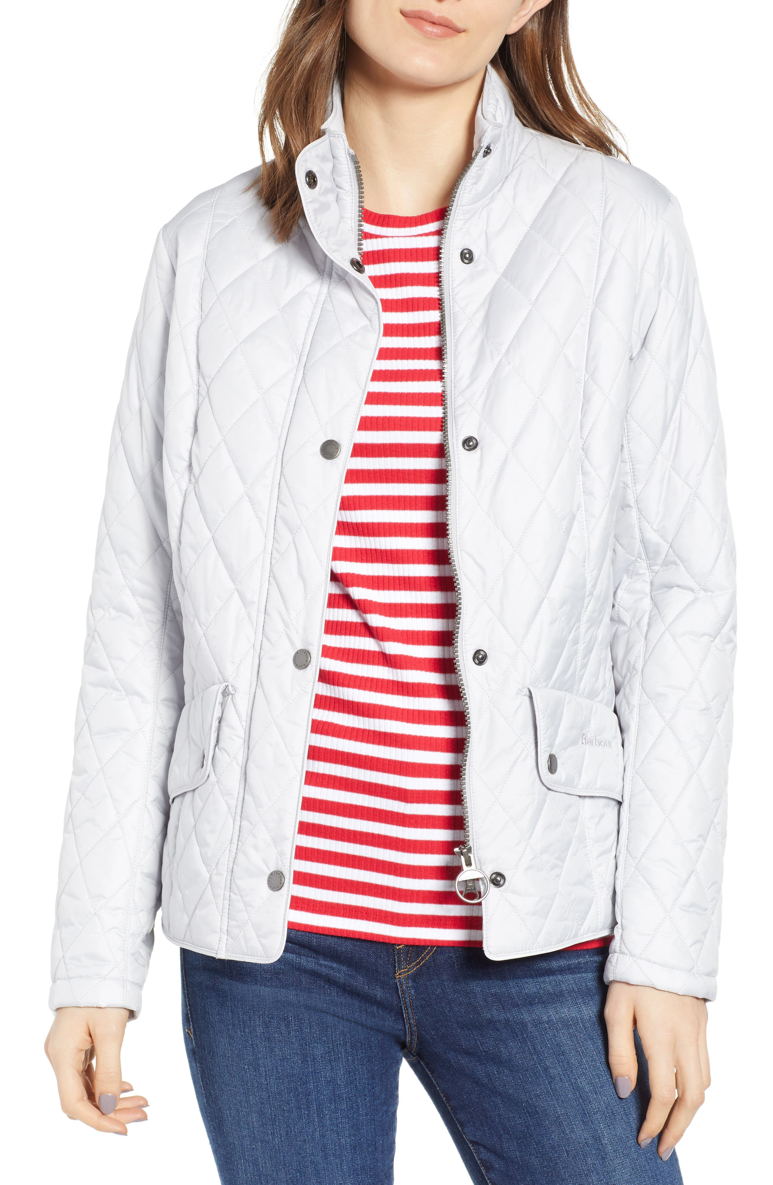 Barbour Cavalry Flyweight Quilt Jacket, US / 10 UK - White