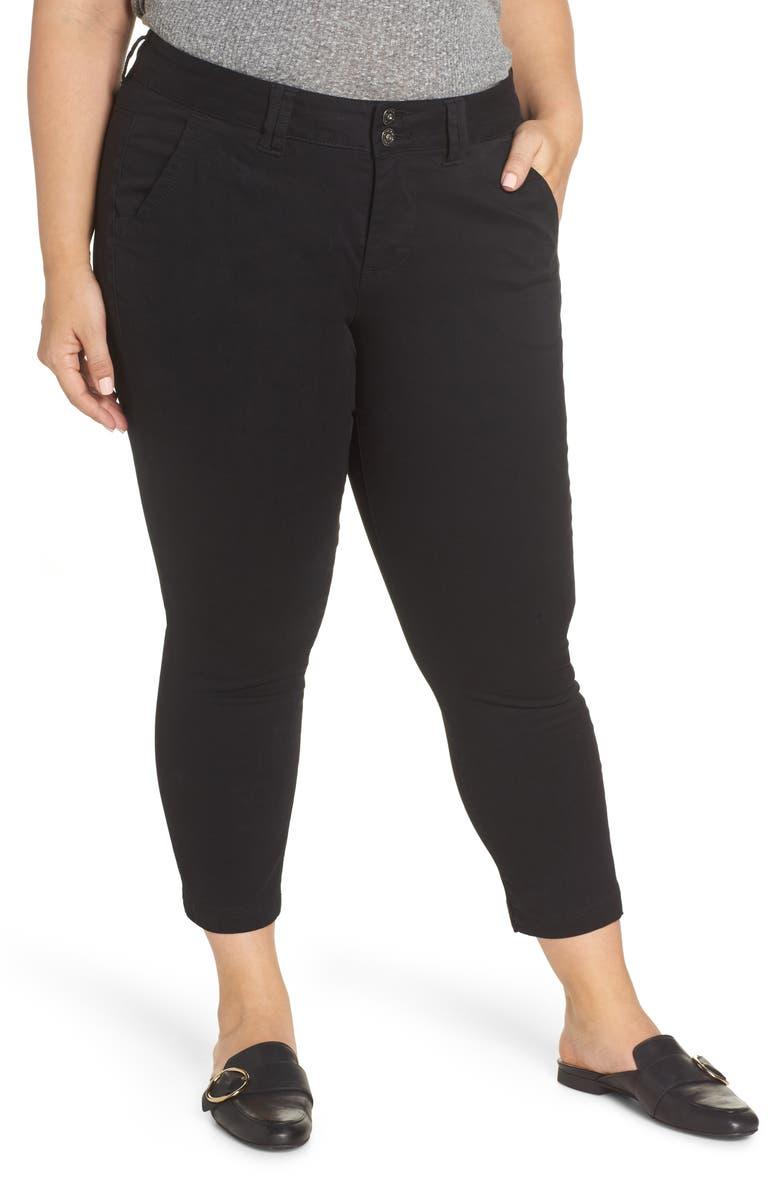 JAG JEANS Flora Stretch Cotton Crop Pants, Main, color, 001