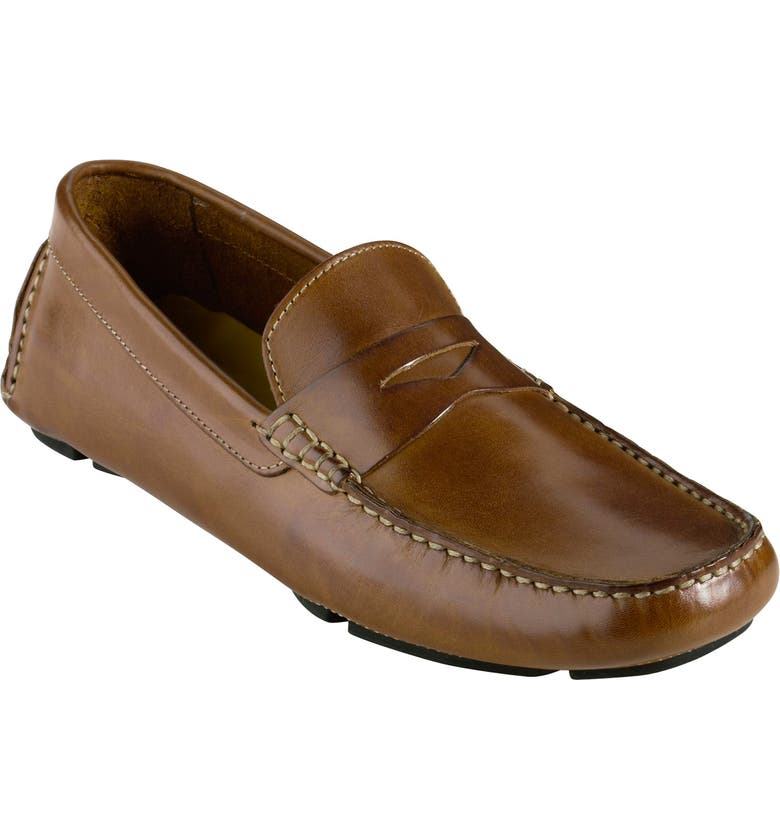 COLE HAAN 'Howland' Penny Loafer, Main, color, SADDLE TAN LEATHER