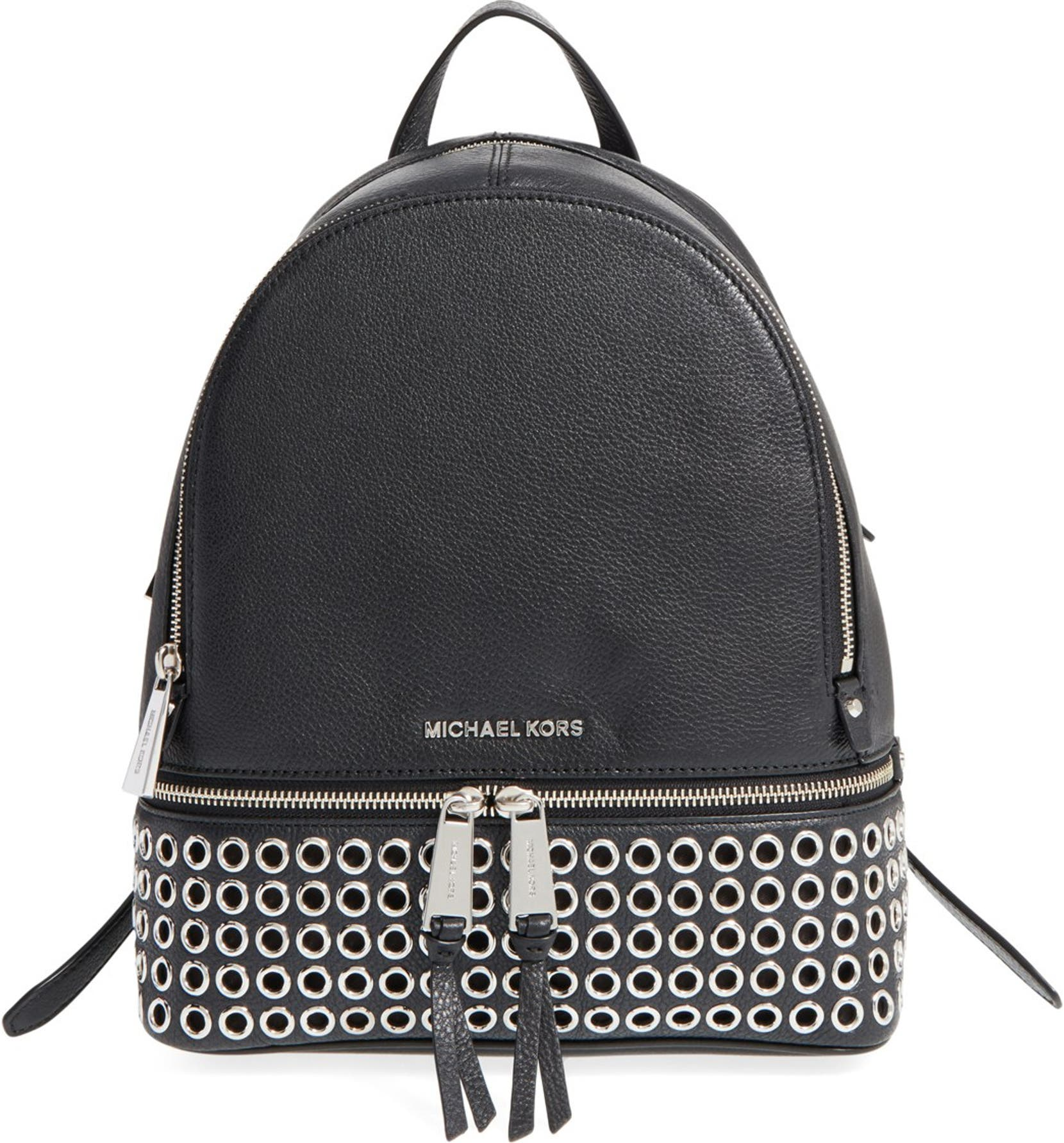 6b81b46f6980 MICHAEL Michael Kors 'Rhea - Zip Grommet' Leather Backpack | Nordstrom