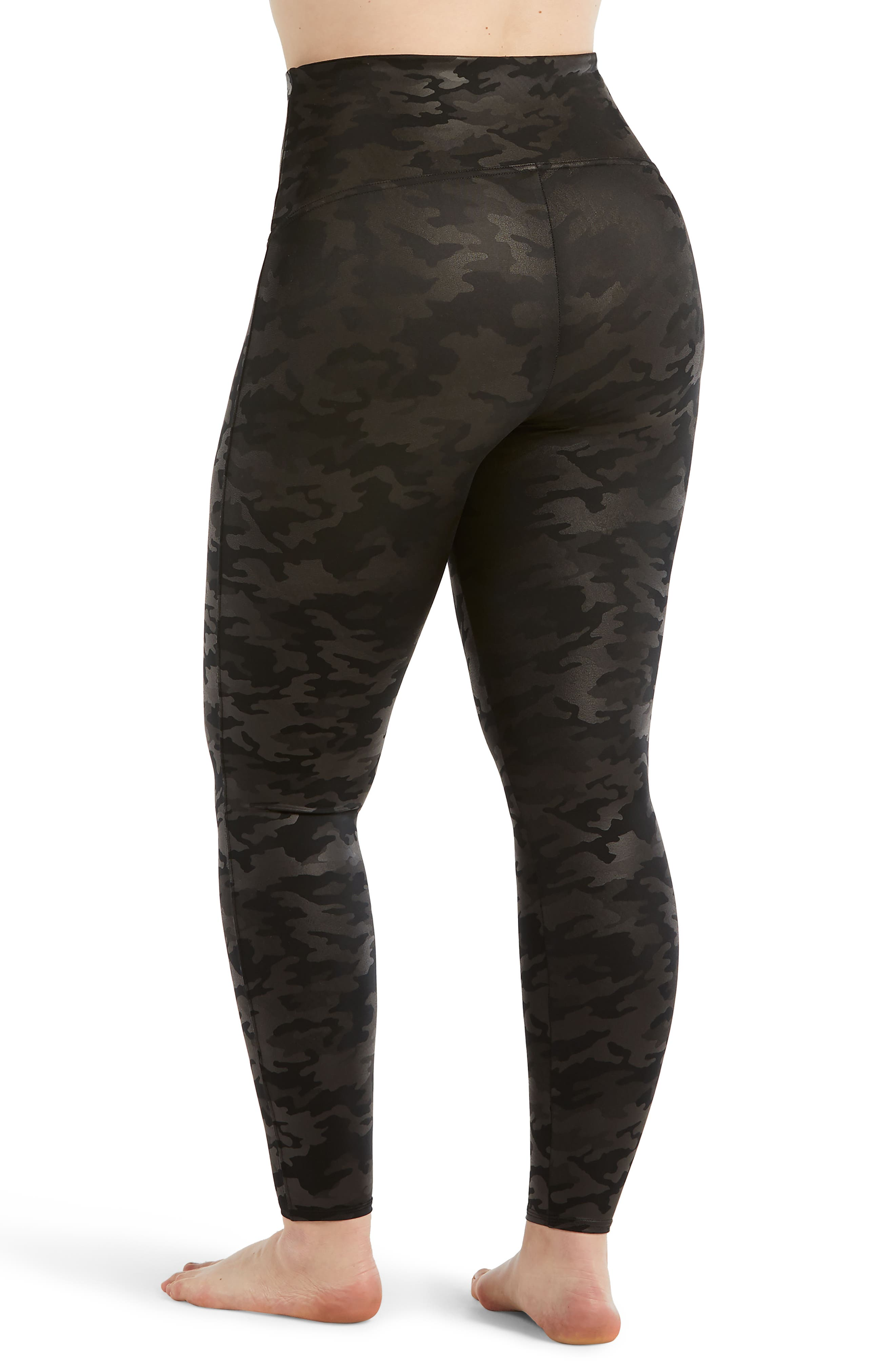 ,                             Camo Faux Leather Leggings,                             Alternate thumbnail 2, color,                             MATTE BLACK CAMO