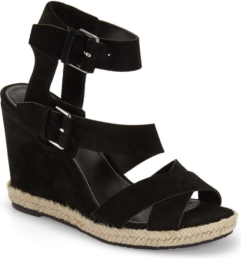 MARC FISHER LTD 'Karla' Wedge Sandal, Main, color, 001