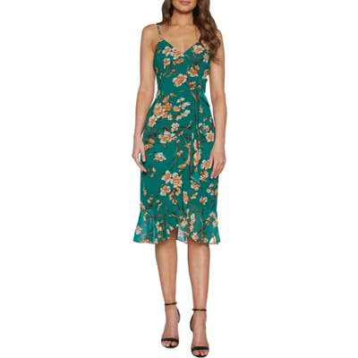 Bardot Malika Floral Print Dress, Green