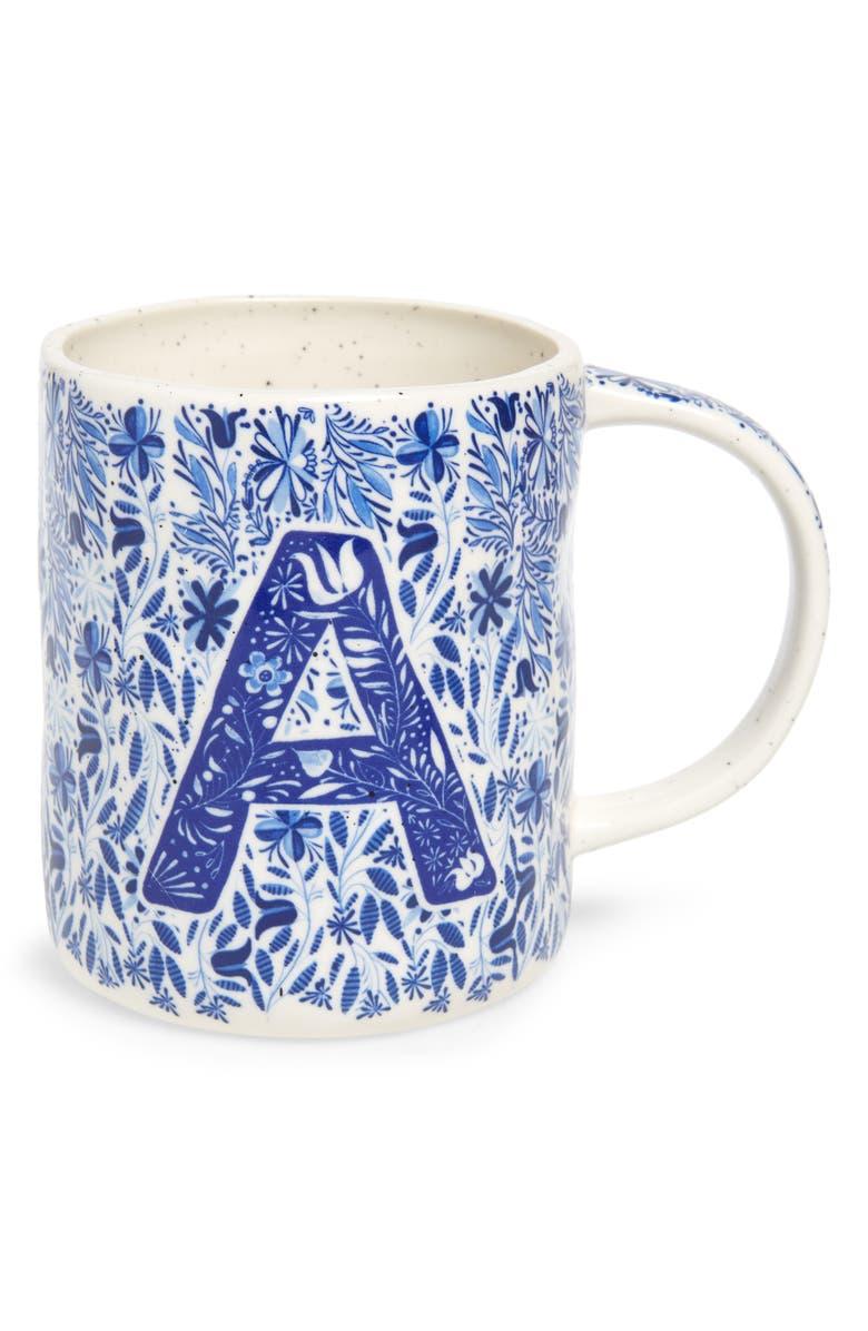 ANTHROPOLOGIE HOME Folksong Monogram Mug, Main, color, A