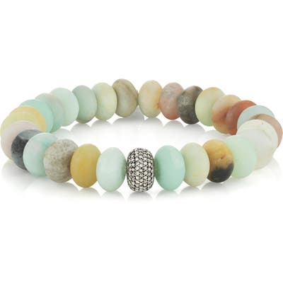 Sheryl Lowe Amazonite Bracelet With Pave Diamonds