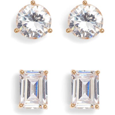 Nordstrom 2-Pack 2Ct Tw Cubic Zirconia Stud Earrings