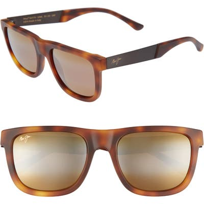 Maui Jim Talk Story 55mm Polarized Sunglasses - Matte Tokyo Tortoise/ Bronze