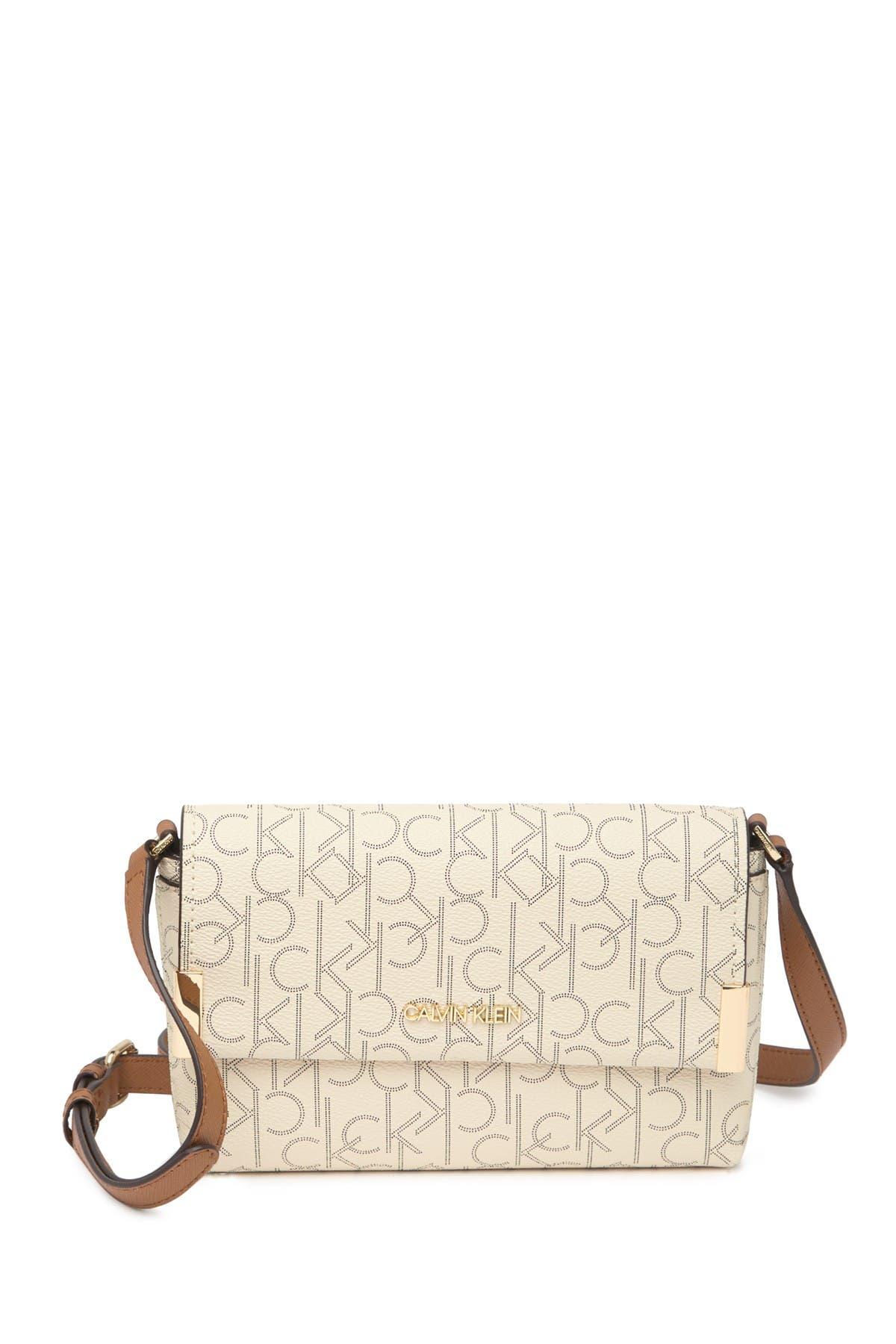 Calvin Klein PRINTED PINDOT LOGO CROSSBODY BAG