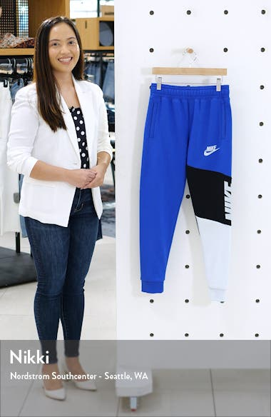 Sportswear Core Amplify Colorblock Fleece Pants, sales video thumbnail