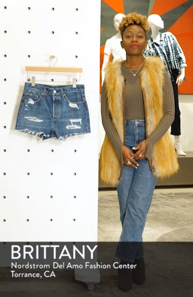 501<sup>®</sup> Ripped High Waist Cutoff Denim Shorts, sales video thumbnail