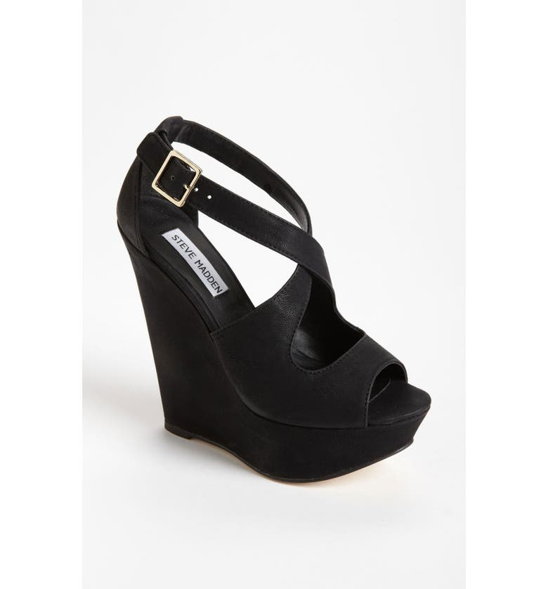 STEVE MADDEN 'Xternal' Wedge Sandal, Main, color, 001