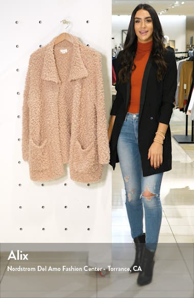 Teddy Open Front Cardigan, sales video thumbnail