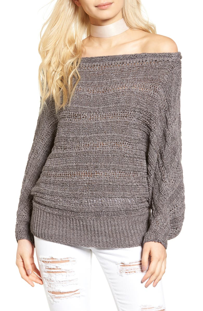 LEITH Off the Shoulder Sweater, Main, color, 021