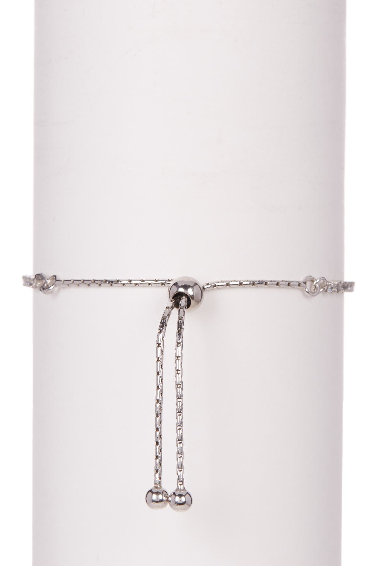 Image of Savvy Cie Sterling Silver CZ Pull Tennis Bracelet