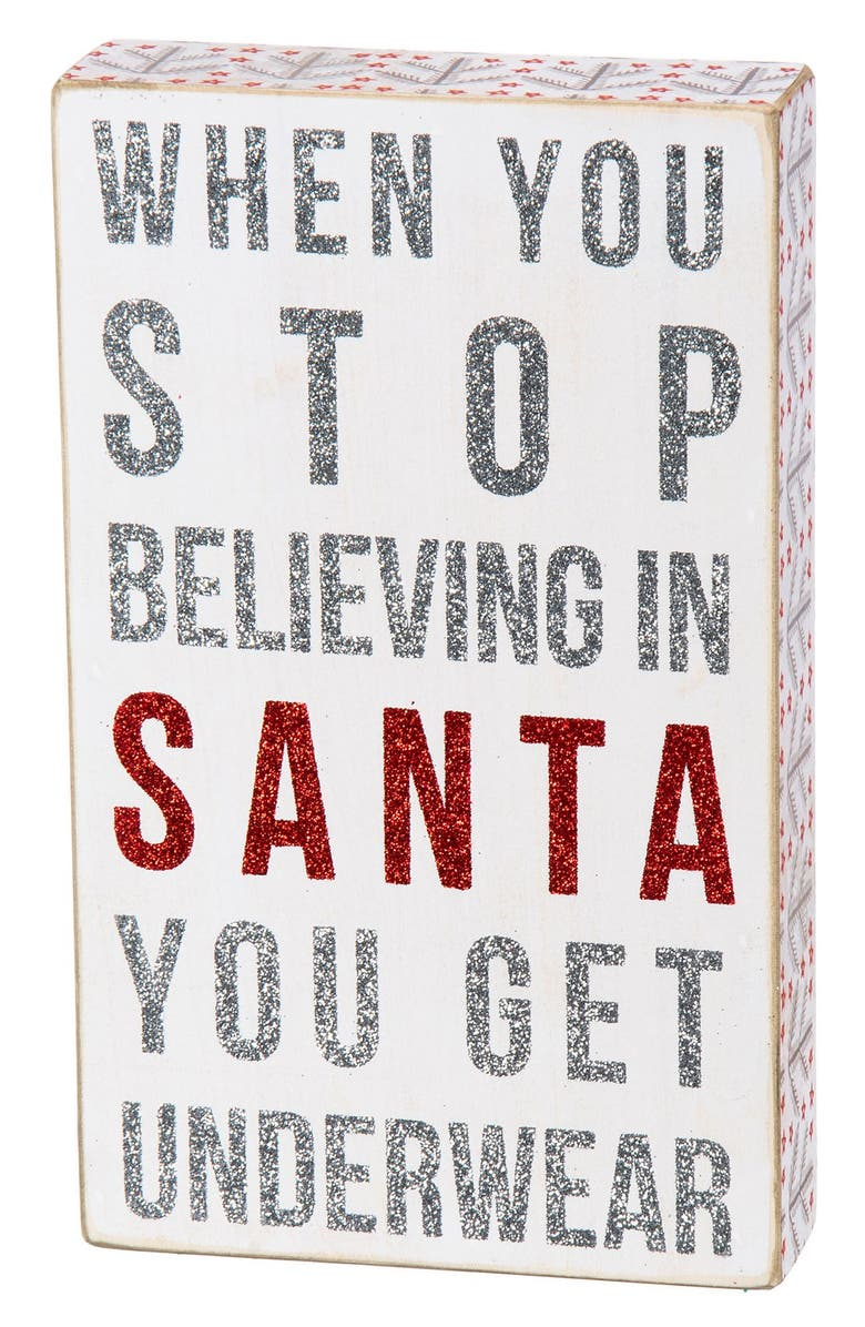 PRIMITIVES BY KATHY 'When You Stop Believing' Box Sign, Main, color, 100