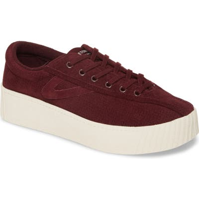 Tretorn Bold Perforated Platform Sneaker, Red
