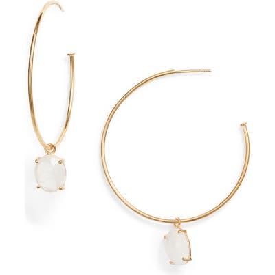 Argento Vivo Moonstone Hoop Earrings