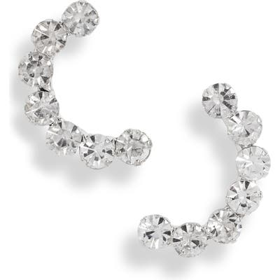 Cristabelle Crystal Crescent Earrings