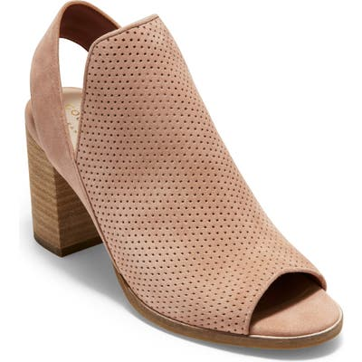Cole Haan Callista Perforated Slingback Sandal, Pink
