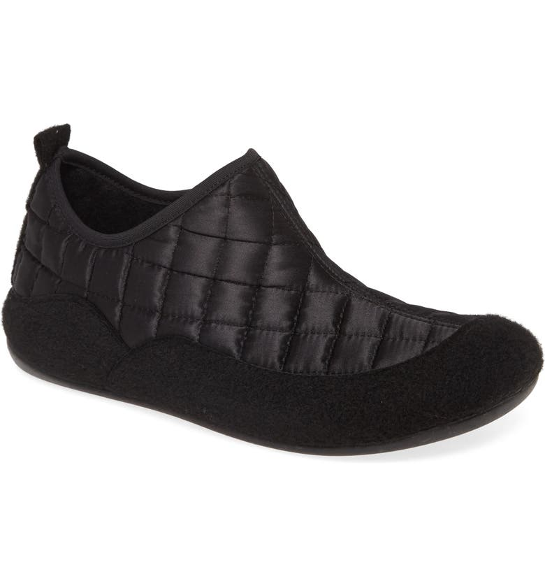 TONI PONS Mare Quilted Slipper, Main, color, BLACK WOOL