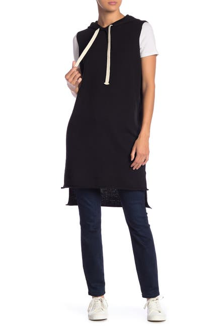 Image of 360 Cashmere Vicki Sleeveless Hooded High/Low Pullover