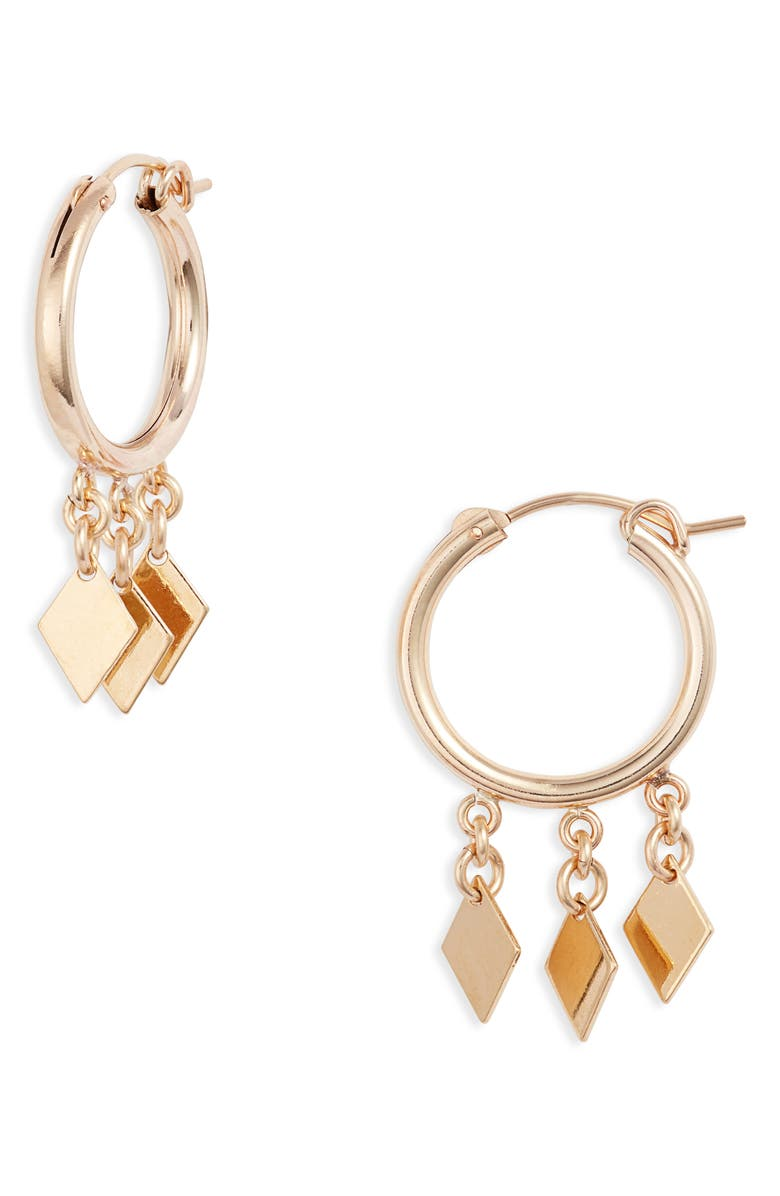 SET & STONES Charlize Hoop Earrings, Main, color, GOLD