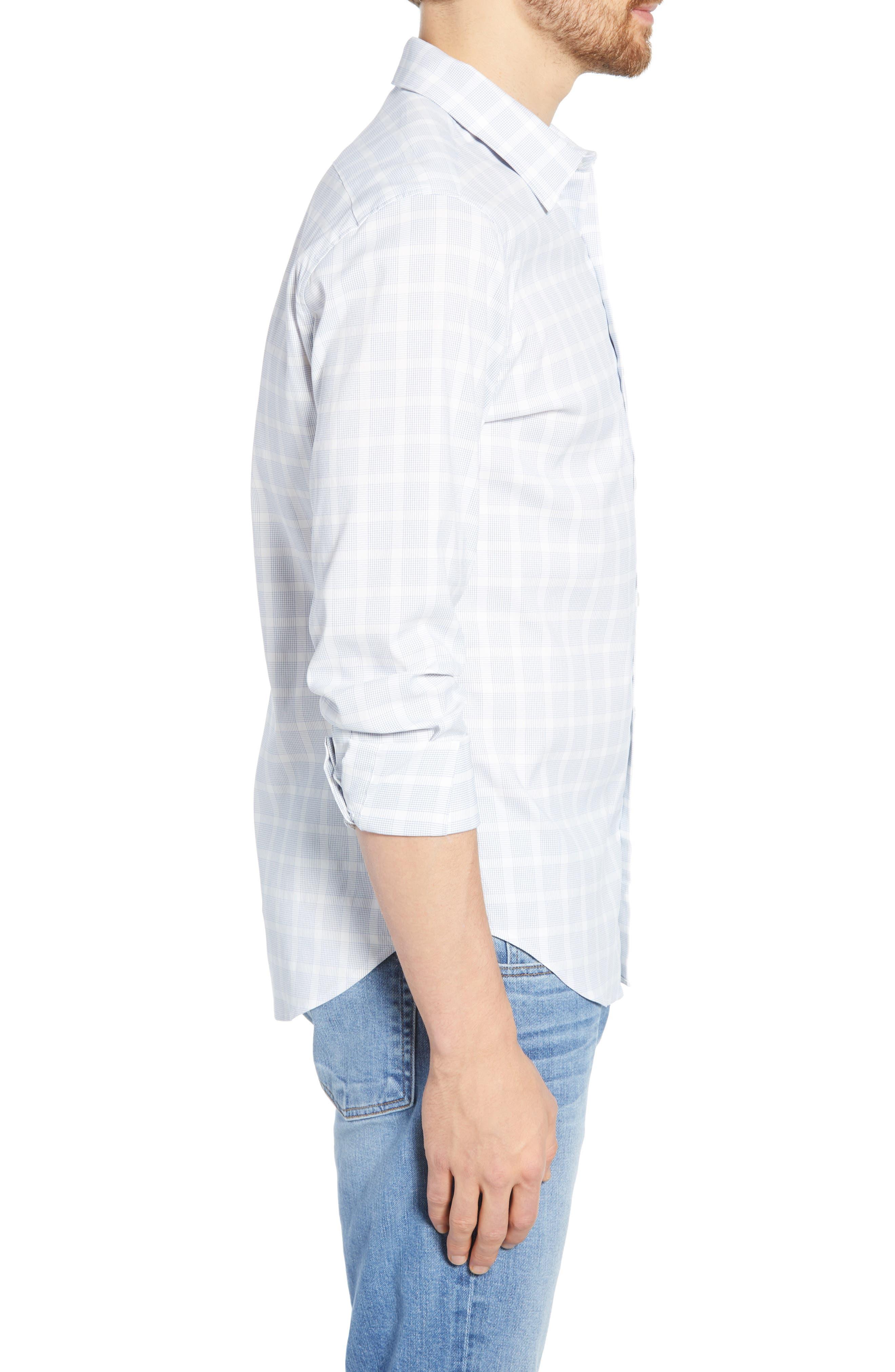 ,                             Slim Fit Check Tech Sport Shirt,                             Alternate thumbnail 4, color,                             MIGUEL CHECK AZUL