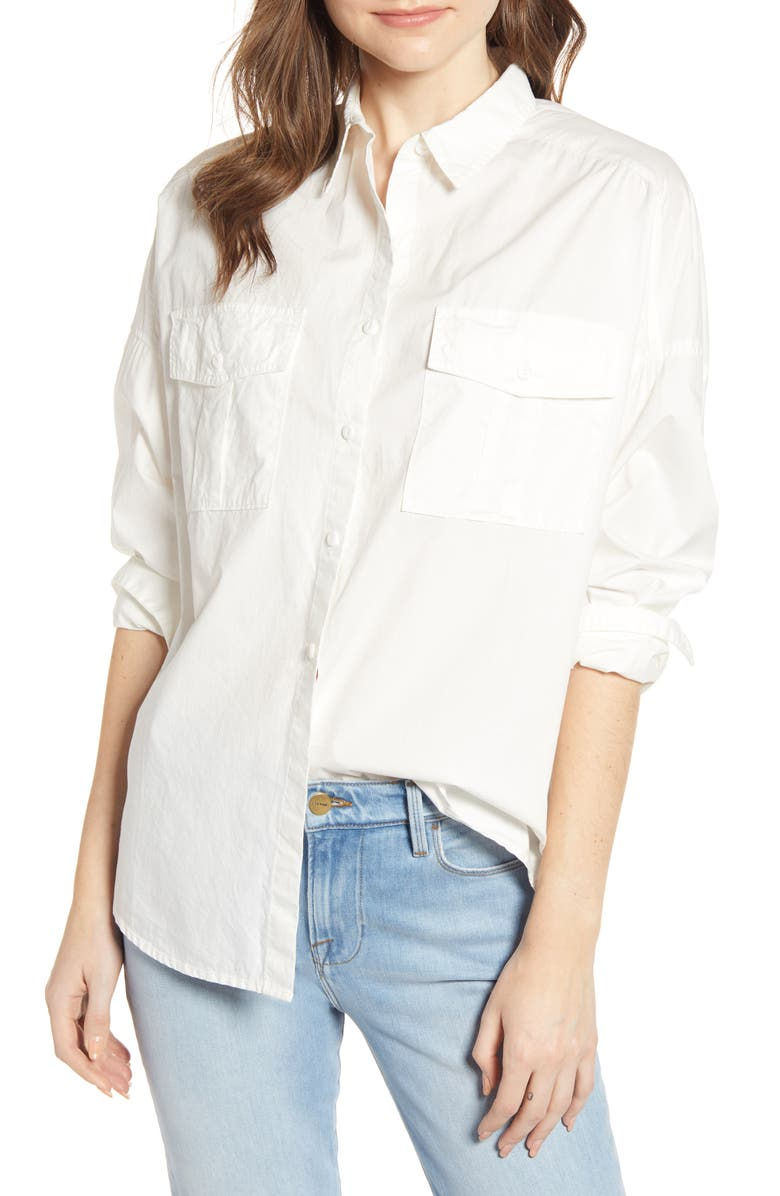 ALEX MILL Oversize Shirt, Main, color, WHITE