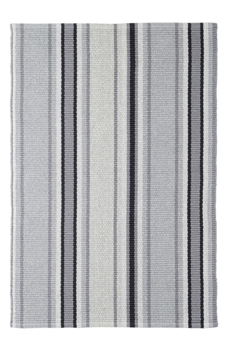 DASH & ALBERT Greyson Stripe Woven Cotton Rug, Main, color, GREY MULTI