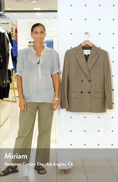 '70s Double Breasted Houndstooth Wool Blend Blazer, sales video thumbnail
