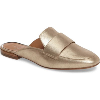 Linea Paolo Annie Genuine Calf Hair Loafer Mule, Metallic