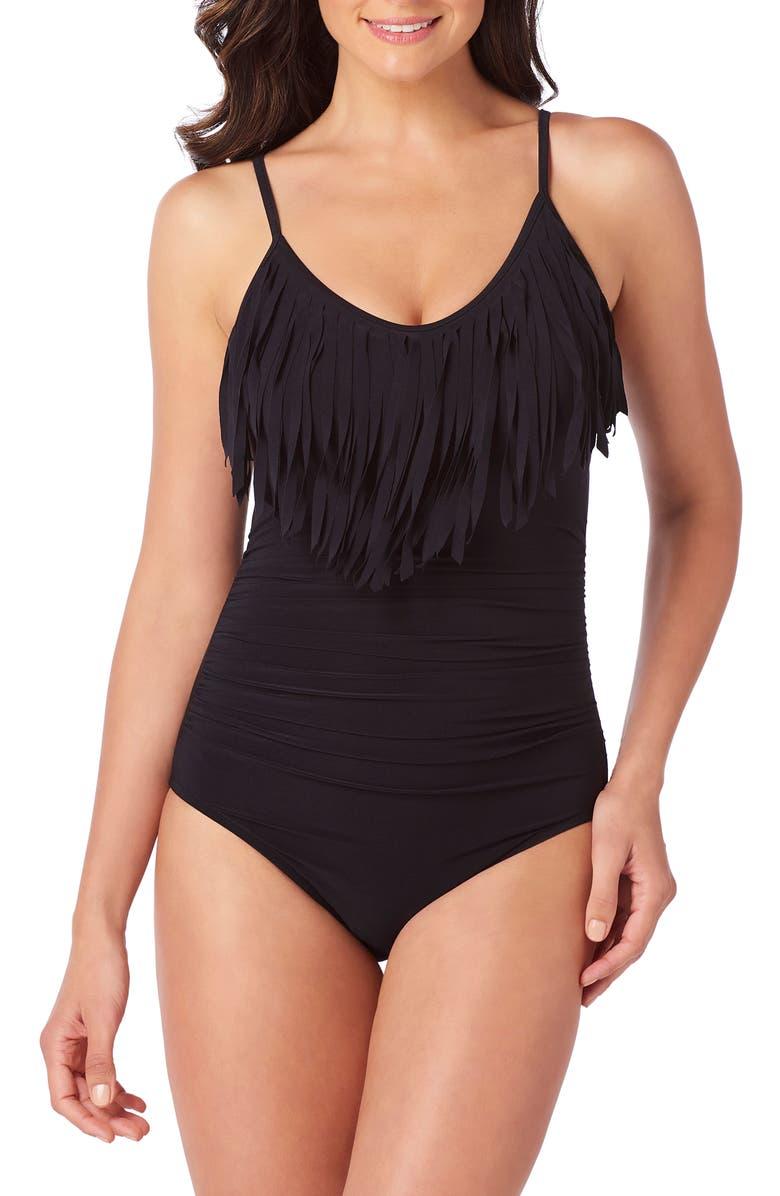 MAGICSUIT<SUP>®</SUP> Blaire Underwire One-Piece Swimsuit, Main, color, BLACK