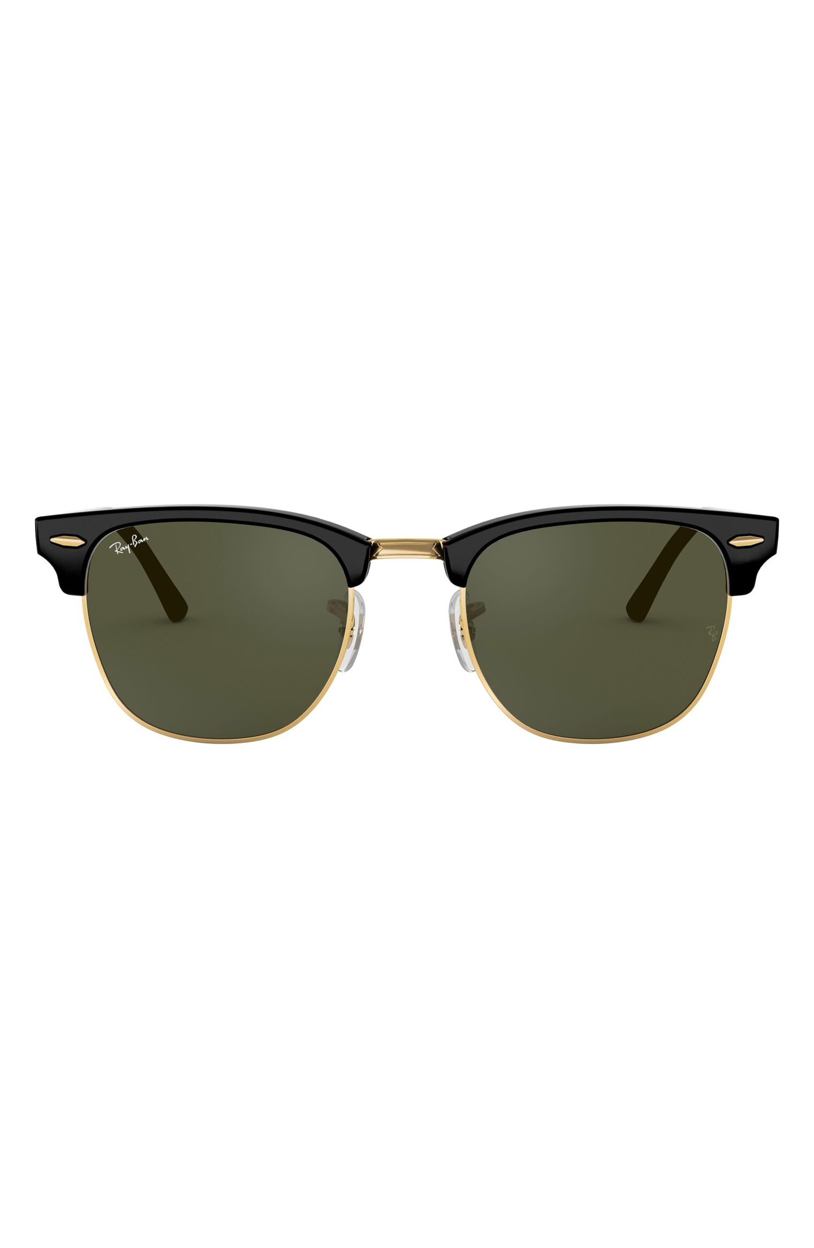 Ray-Ban Clubmaster 51mm Sunglasses - Dark Tortoise