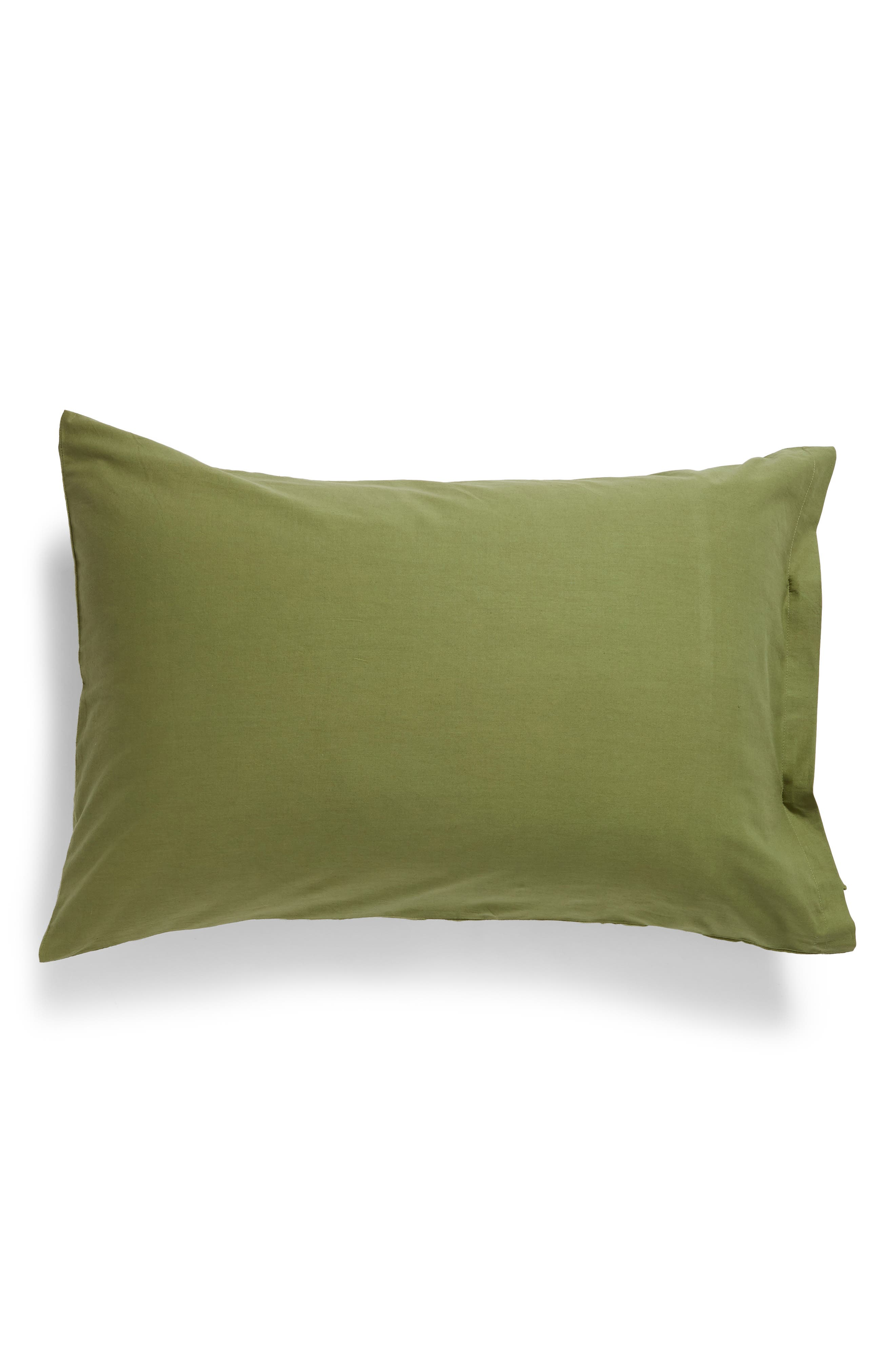 ,                             Relaxed Cotton & Linen Sham,                             Alternate thumbnail 2, color,                             OLIVE SPICE