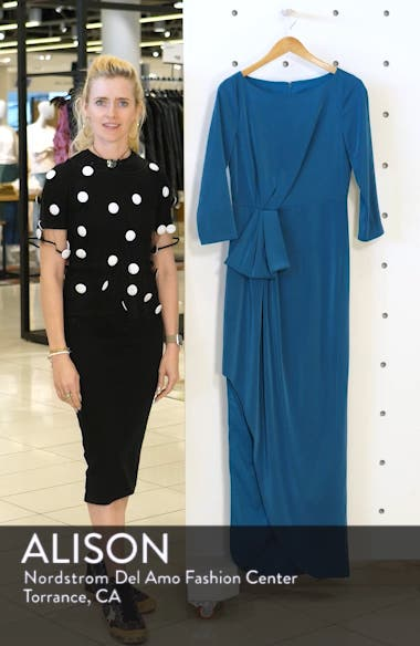 Gathered Waist Evening Dress, sales video thumbnail