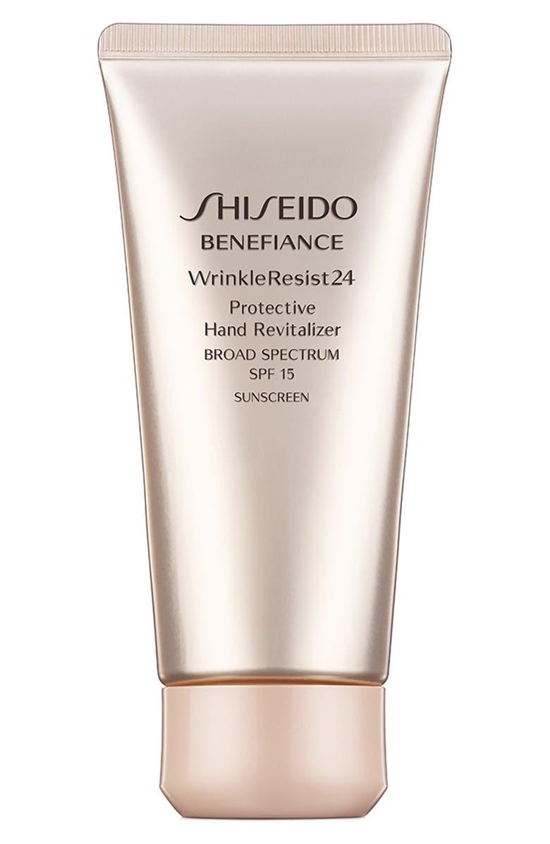 SHISEIDO 'Benefiance WrinkleResist24' Protective Hand Revitalizer SPF 15, Main, color, 000