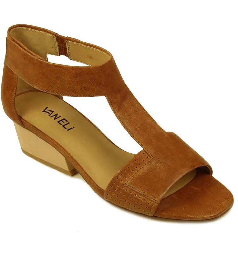VANELI Calyx Block Heel Sandal, Main, color, BROWN TRAPPER LEATHER