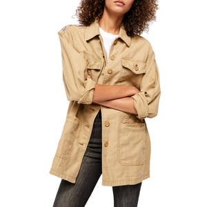 Deals on Seamed & Structured Patchwork Cotton Jacket