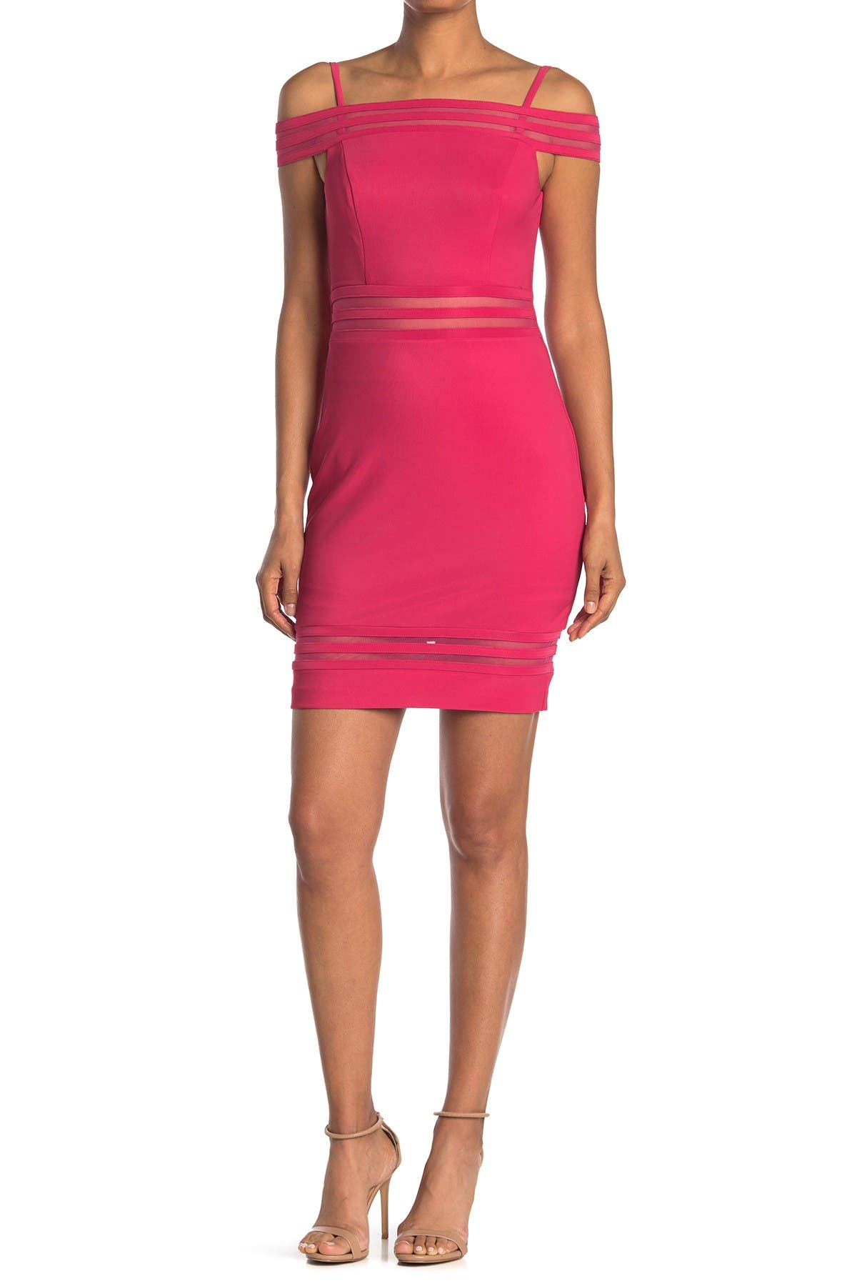 Image of GUESS Off-The-Shoulder Mini Dress