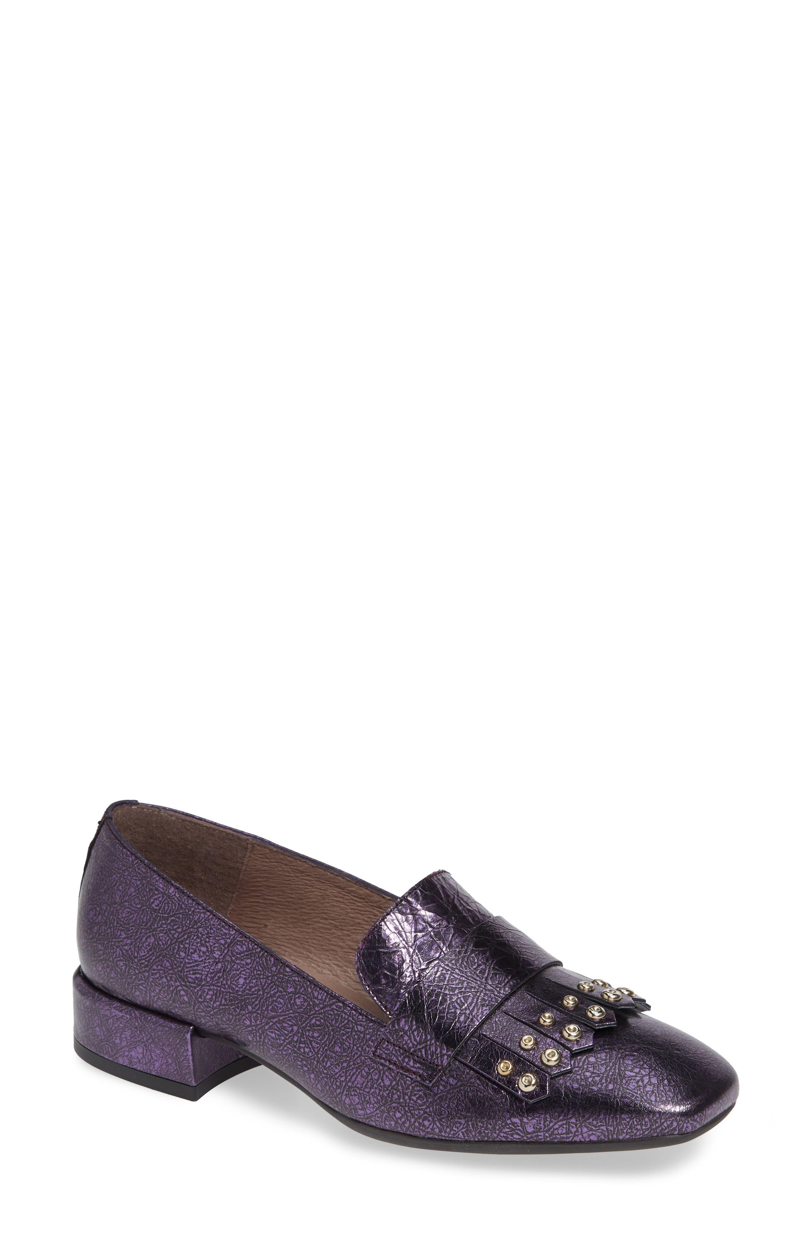 Wonders Low Heel Fringe Loafer - Purple