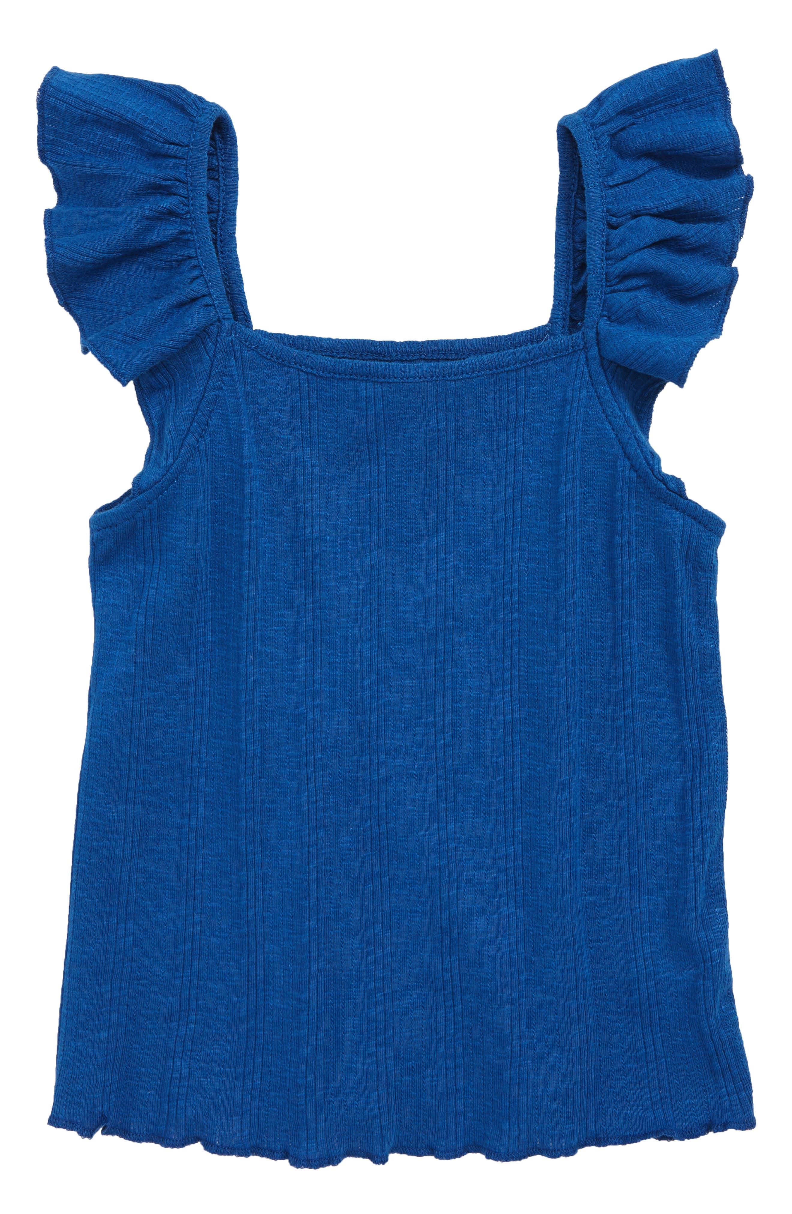Too Cute Flutter Tank Top, Main, color, BLUE MONACO