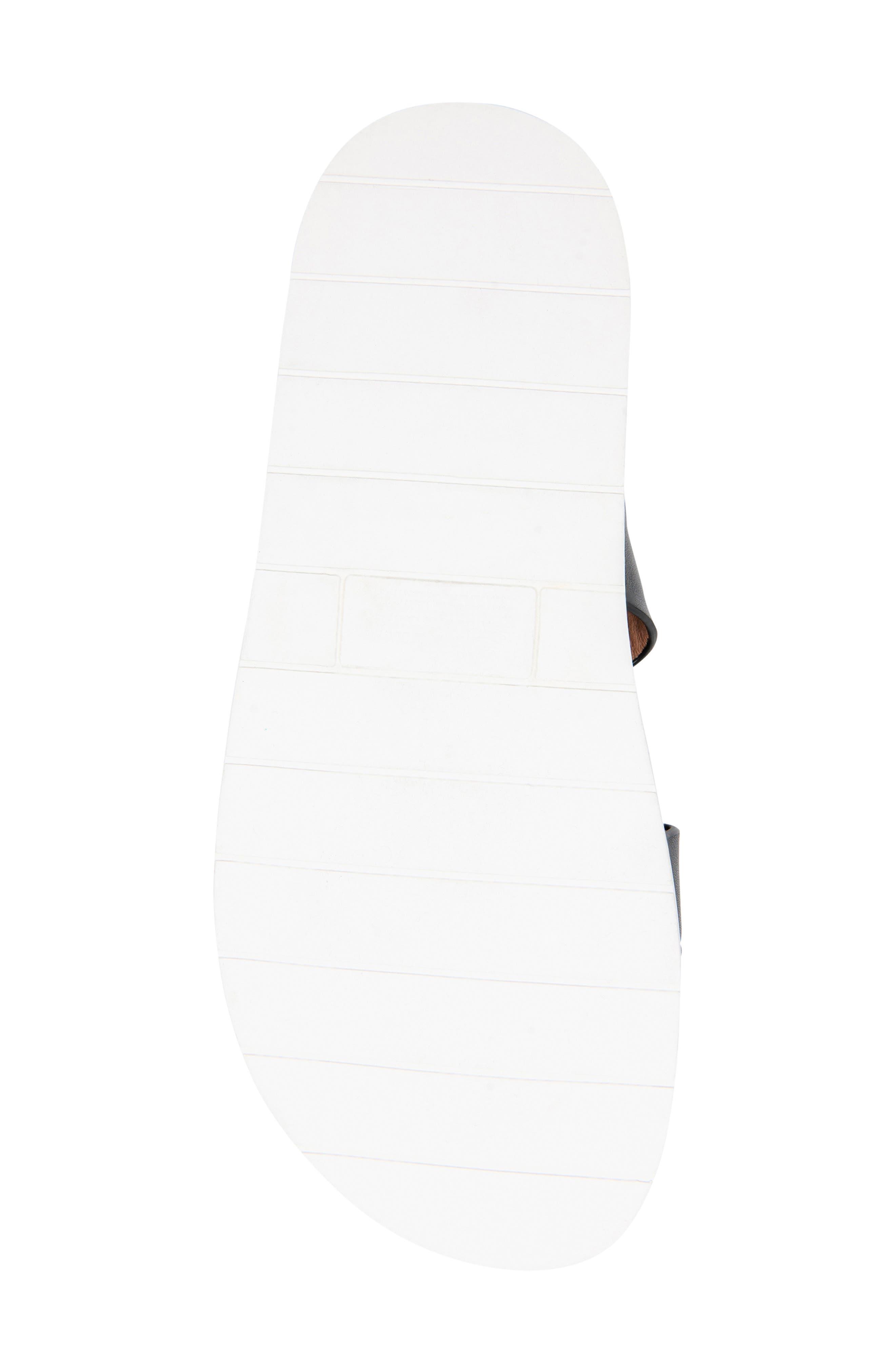 ,                             Selma Waterproof Slide Sandal,                             Alternate thumbnail 6, color,                             BLACK LEATHER