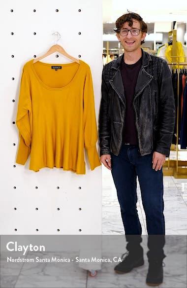 Balloon Sleeve Peplum Sweater, sales video thumbnail