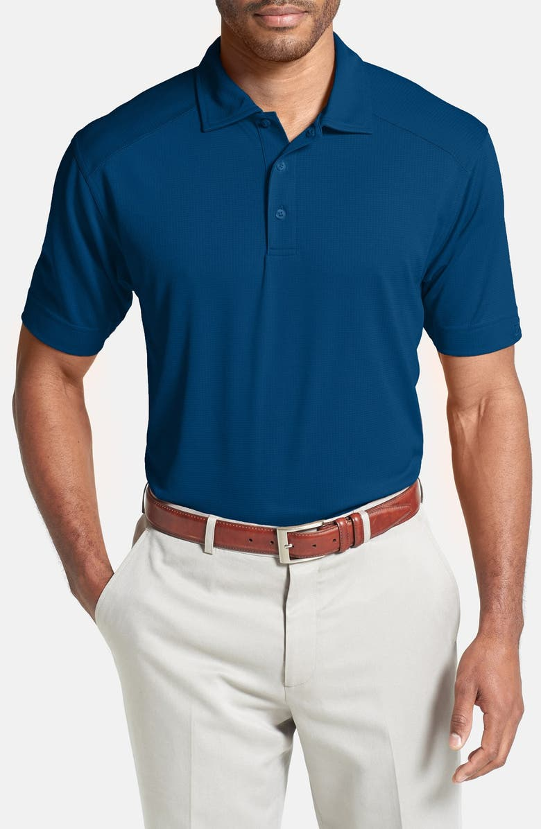 CUTTER & BUCK Genre DryTec Moisture Wicking Polo, Main, color, TOUR BLUE
