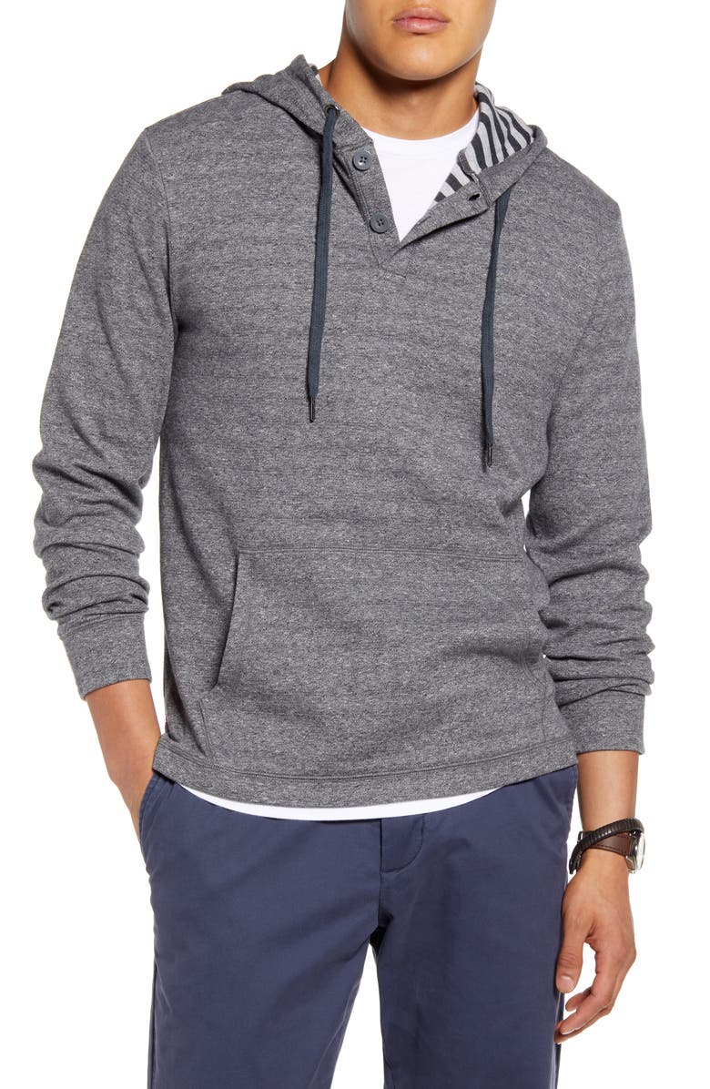 1901 Marled Cotton Stripe Henley Hoodie, Main, color, 030