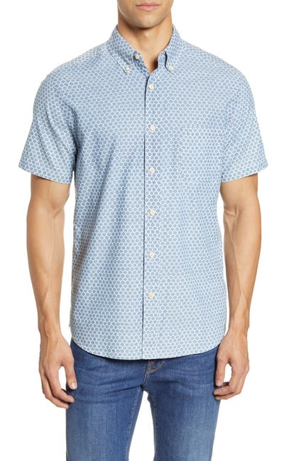 Image of FAHERTY BRAND Everyday Short Sleeve Button-Down Shirt